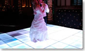 Thumbnail of black and white gloss dance floor